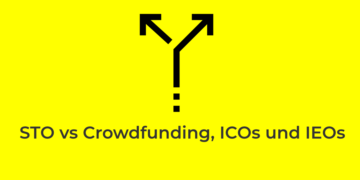 Security Token Offering versus Crowdfunding, ICO und IEO